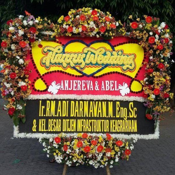 Bunga papan, standing flower, hand buket, bouquet bunga, karangan bunga, duka cita, happy wedding, congratulations, peresmian, bunga